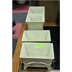 SET OF4 IVORY LOOK PLANTER BOXES