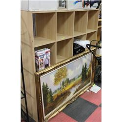 WOOD 16-CUBE WOOD STORAGE/ORGANIZER UNIT