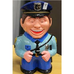 POLICEMAN ANIMATED TALKING COOKIE JAR
