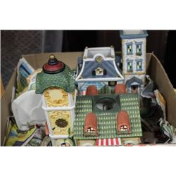 BOX W/ PARTY-LITE CANDLE HOUSES