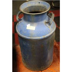 VINTAGE BLUE MILK CHURN