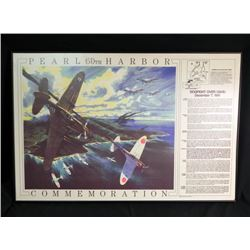 Pearl Harbor Commemoration Print Framed