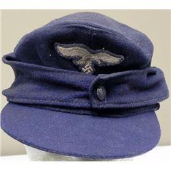 Blue Nazi Luftwaffe Hat with Eagle and Swastika