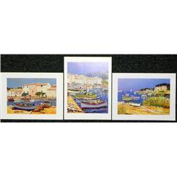 3 Ernest Audibert Nautical Boat Art Prints