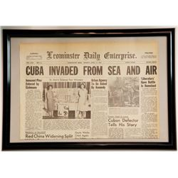 """""""Cuba Invaded from Sea and Air"""" Leonminster Daily"""