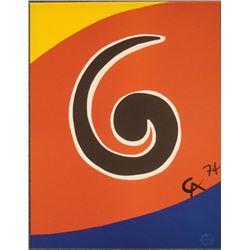 Alexander Calder : Sky Swirl Braniff Airlines Art Print
