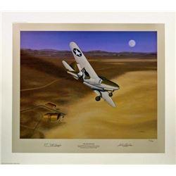 Aviation Art The Beginning Machat P-59 Jet