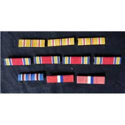 9 WWII U.S. RIBBON BARS-ASSORTED