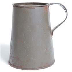 "Civil War 5.5"" Tin Tankard - Field Cup Mug Great Patina"
