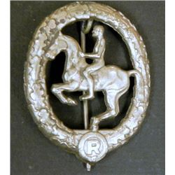 NAZI EQUESTRIAN/HORSEMANSHIP COMPETITION BADGE