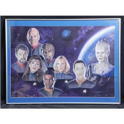 Star Trek Next Gen R.J. Crabtree Signed Print-Ltd Frmd