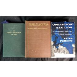 Lot of 3 WWII British Hardcover Books