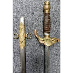 Knights Templar Sword Vintage with Scabbard