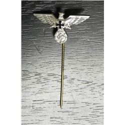 NAZI VETERANS STICKPIN ORIGINAL MINT EAGLE, IRON CROSS