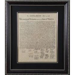 Declaration of Independence Antiqued Framed Print