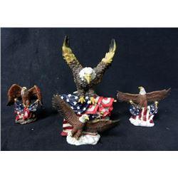 FOUR PATRIOTIC EAGLE STATUES