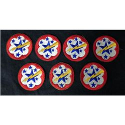 7 WWII ARMY WESTERN PACIFIC PATCHES-ORIG-MINT COND