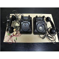 ANTIQUE LEICH ELECTRIC 901A MAGNETO TELEPHONE & CON BOX