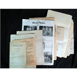 LOT OF WWI, WWII & POST WAR MILITARY DOCUMENTS