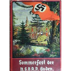 "NAZI SOMMERFEST DER NSDAP-BADEN COLOR FLYER AD-4X6""-ORI"