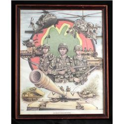 Framed Iraqi Freedom Picture