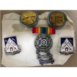 US MILITARY GI'S MEDALS-6 PC-SHARPSHOOTER W/GRENADE