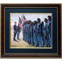 Mort Kunstler Civil War Print Framd 54th Black Regiment