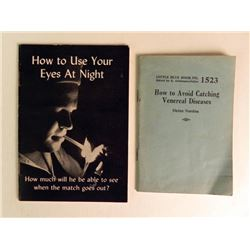 """2 WWII BOOKS """"HOW TO AVOID CATCHING VD"""" & ONE OTHER"""