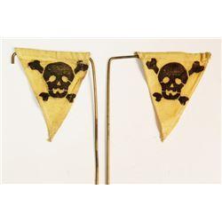 Replica ?  Nazi SS Yellow Skull & Bones  Mine ID Flags