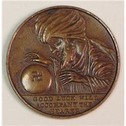 Good Luck Will Accompany the Bearer All Seeing Eye Coin