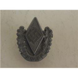 NAZI HITLER YOUTH 1941 RALLY PIN-HJ DIAMOND W/SWASTIKA