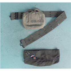 WWII U.S. ETO OVERSEAS CAP W/ INSIGNIA BARS