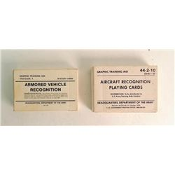 2 Sets of Vehicle Recognition Study Cards U.S. Army