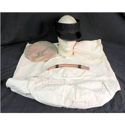 WWII US NAVY LOT-DUFFEL-VISOR WITH 2 TOPS & SPRING STAY