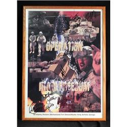 Signed Framed Operation Iraqi Freedom Poster