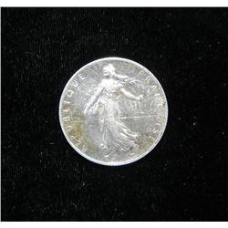 France Silver 2 Francs 1918