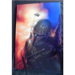 Boba Fett Star Wars Art Tsuneo Sanda Signed Print
