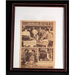 Local Paper about WWII Framed