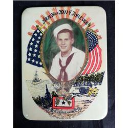 Korean War Tin Picture Frame