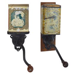 Coffee grinders (2), American Beauty, mfgd by The Wrightsville Hardware Co.-Wrightsville, PA, one w/