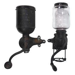 Coffee grinders (2), Brighton Premier No. 125, no catch cup & Regal No. 44, no catch cup, metal/glas