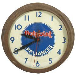 Advertising clock, Hotpoint Appliances, mfgd by Telechron Inc.-Ashland, Mass., molded composition ca