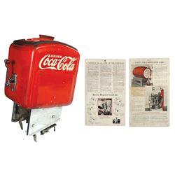 Coca-Cola syrup dispenser & instructions (2), Dole Junior, c.1936-1941,Good cond w/wear & cdbd instr
