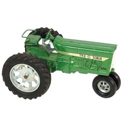 """Toy tractor, Tru Scale IH 890, green, cast metal, c.1970's, Exc cond, 5.25""""H x 8.25""""L."""