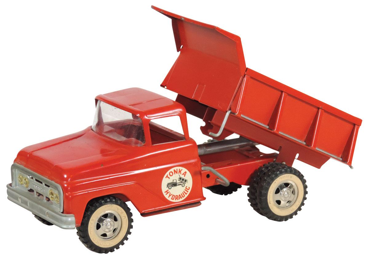 Toy dump truck, Tonka Hydraulic, crank operated, pressed steel, c 1960's,  Exc cond, 13
