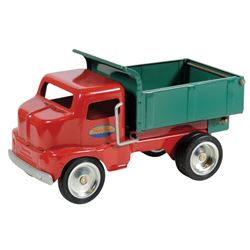 """Toy dump truck, Tonka Toys, mfgd by Hasbro, Inc., pressed steel, c.1996, Exc cond, 11.5""""L."""