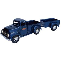 """Toy truck & trailer, Tonka Toys-Mound, MN, pressed steel, new-old-stock in Near-Mint cond, 19""""L."""