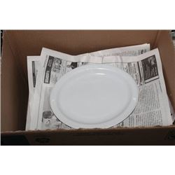 BOX OF OVAL PLATES