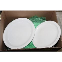 BOX OF LARGE OVAL DINNER PLATES