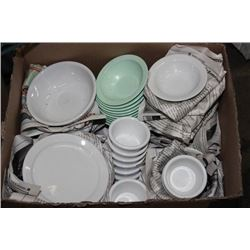 BOX OF MISC. BOWLS OF VARIOUS SIZES